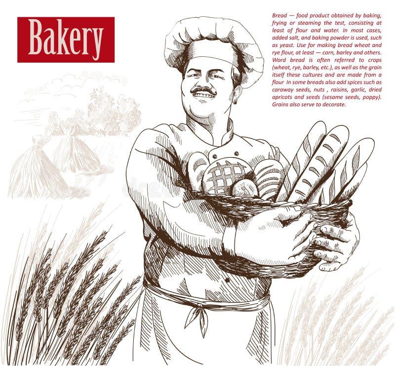 Profession of chef stock illustration