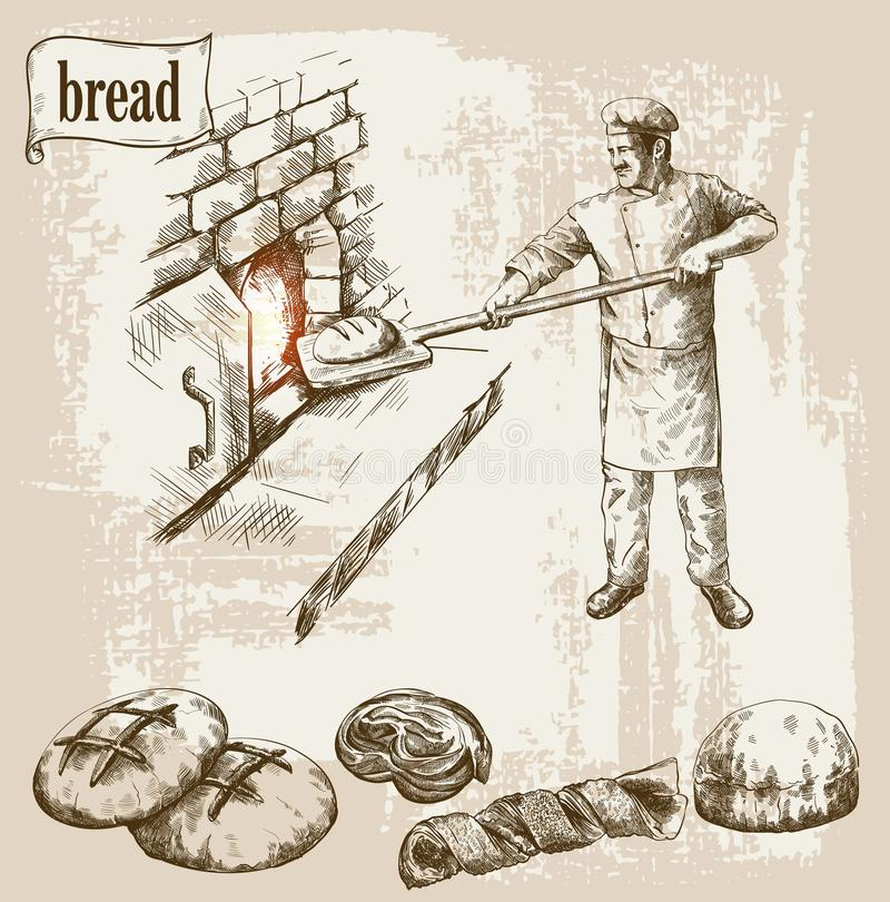 Profession of chef royalty free illustration