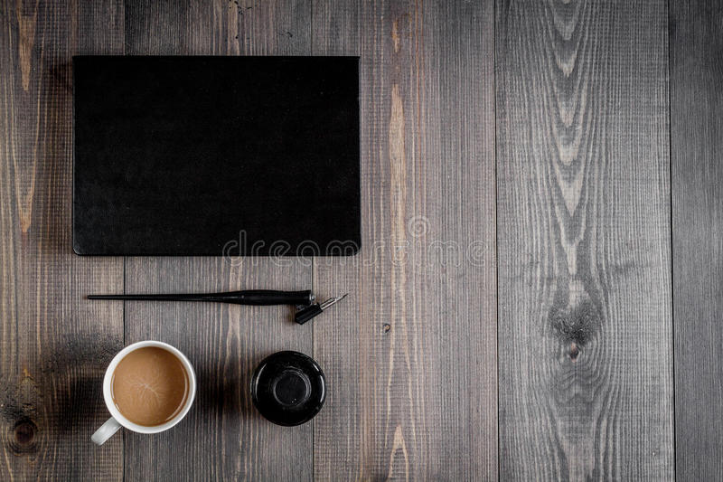 Profession Concept With Writer Tools On Work Desk Background Top