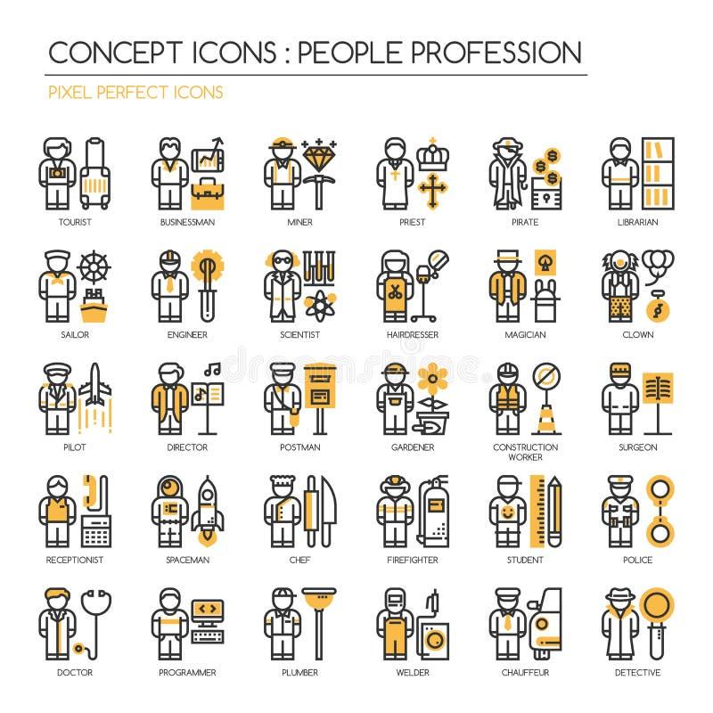 Profession de personnes, icônes parfaites de pixel illustration libre de droits