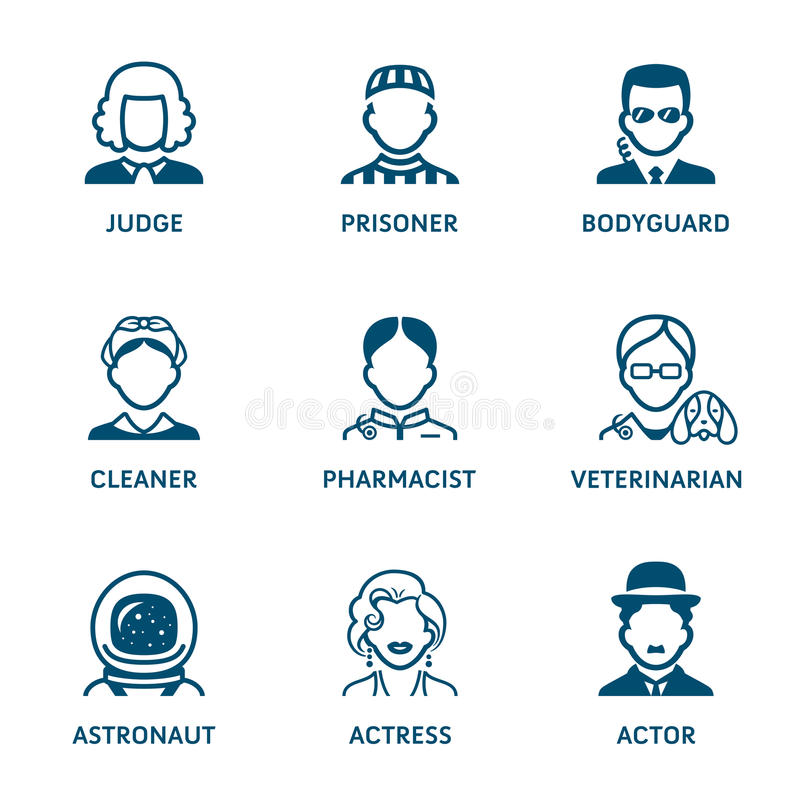 Free Profession Icons || Set III Royalty Free Stock Images - 97076779