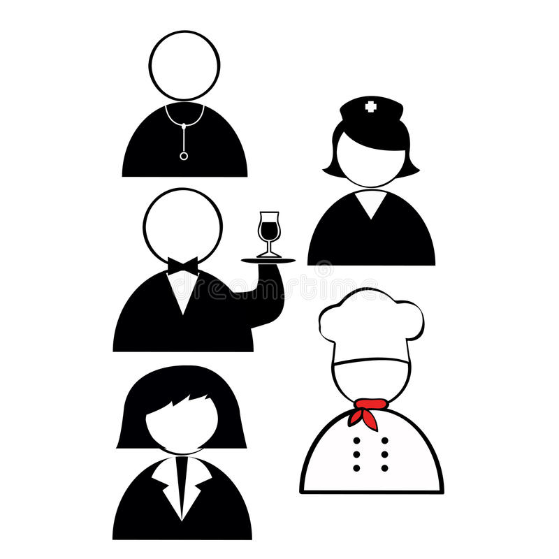 Profession Icons Stock Photography