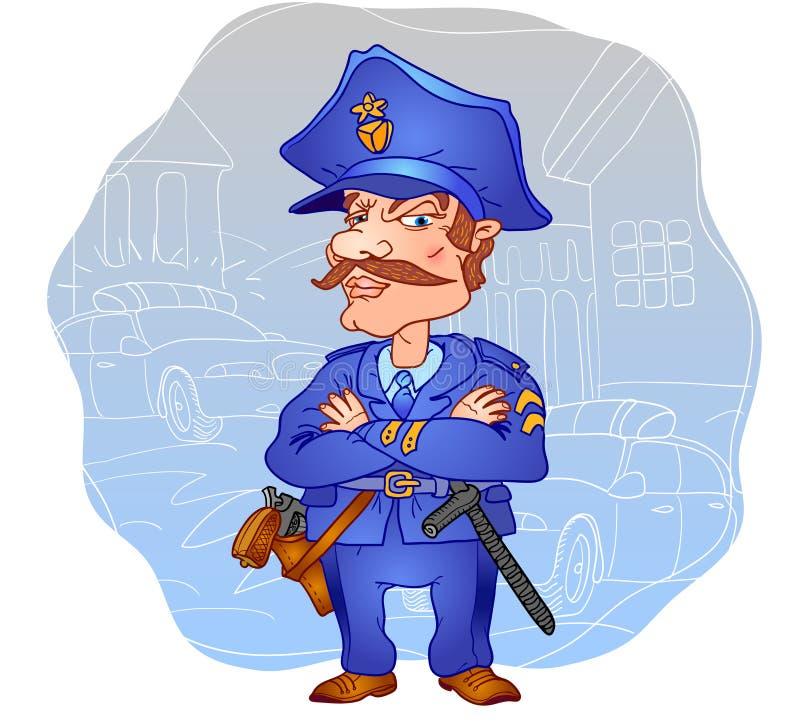 Download Profession. Policeman. stock vector. Image of cartoon - 13102368