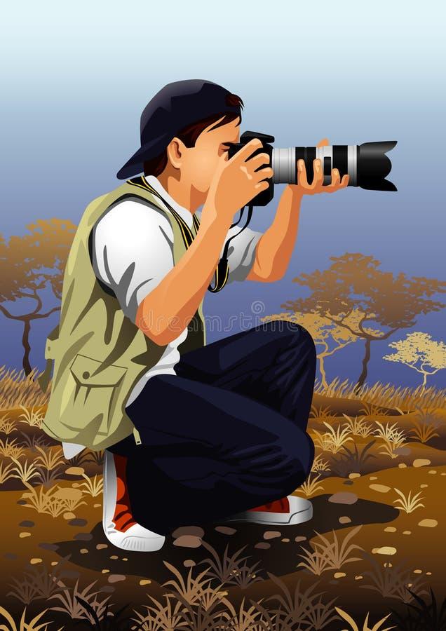 Profession réglée : photographe illustration libre de droits