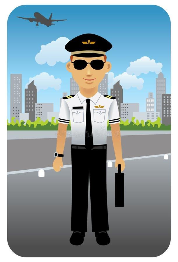 Profession réglée : Pilote de compagnie aérienne illustration stock