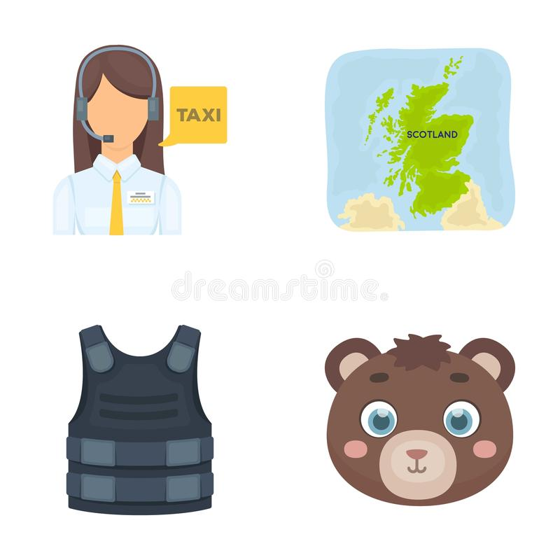 Profession, travel, tourism and other web icon in cartoon style.animal, toy, brown, icons in set collection. royalty free illustration