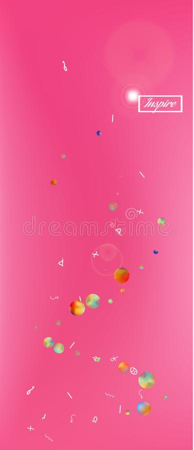 Professional abstract ultra wide space background vector illustration