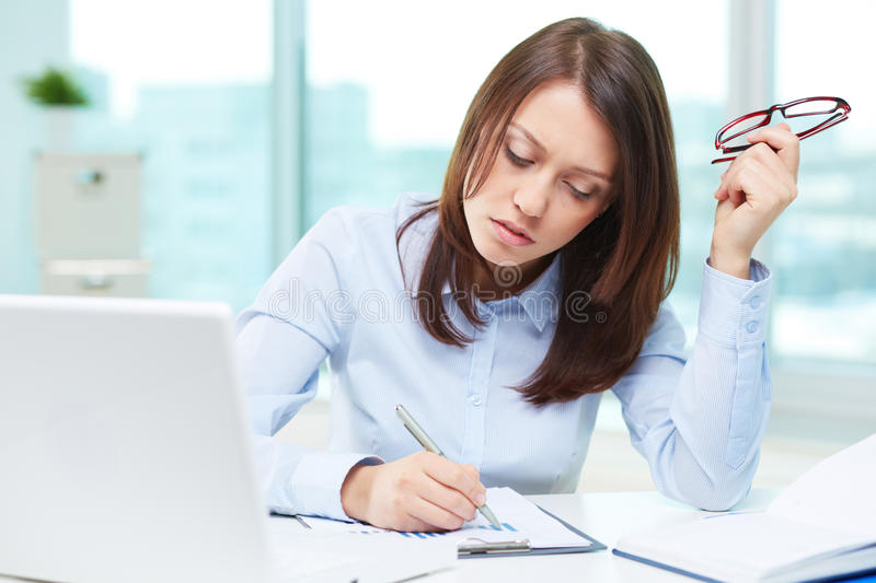 Professional analyst stock photography