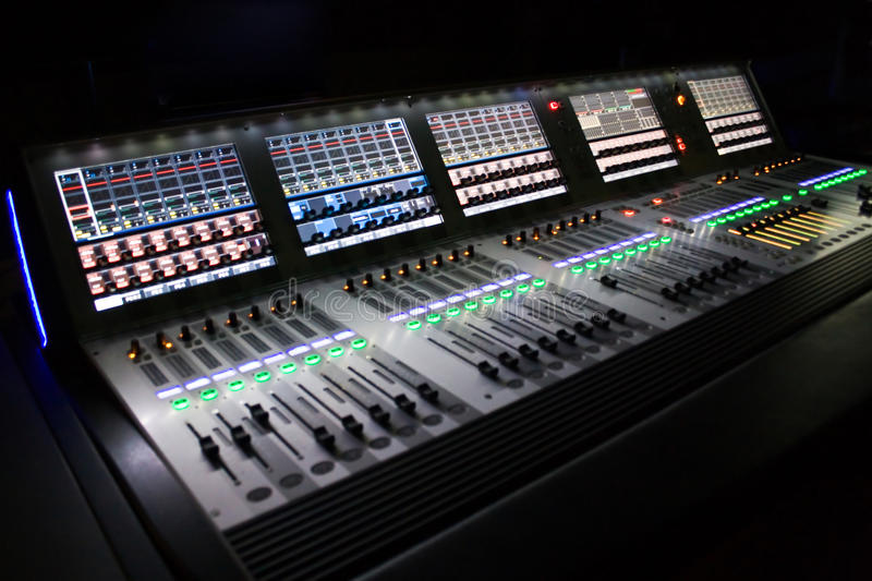 Professional audio mixer for you music stock images