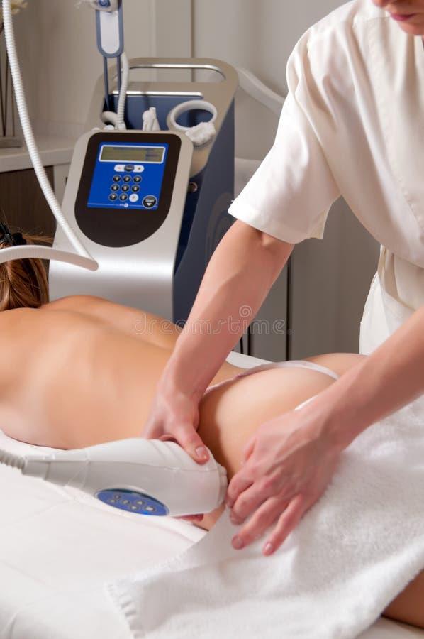 Professional back massage royalty free stock images