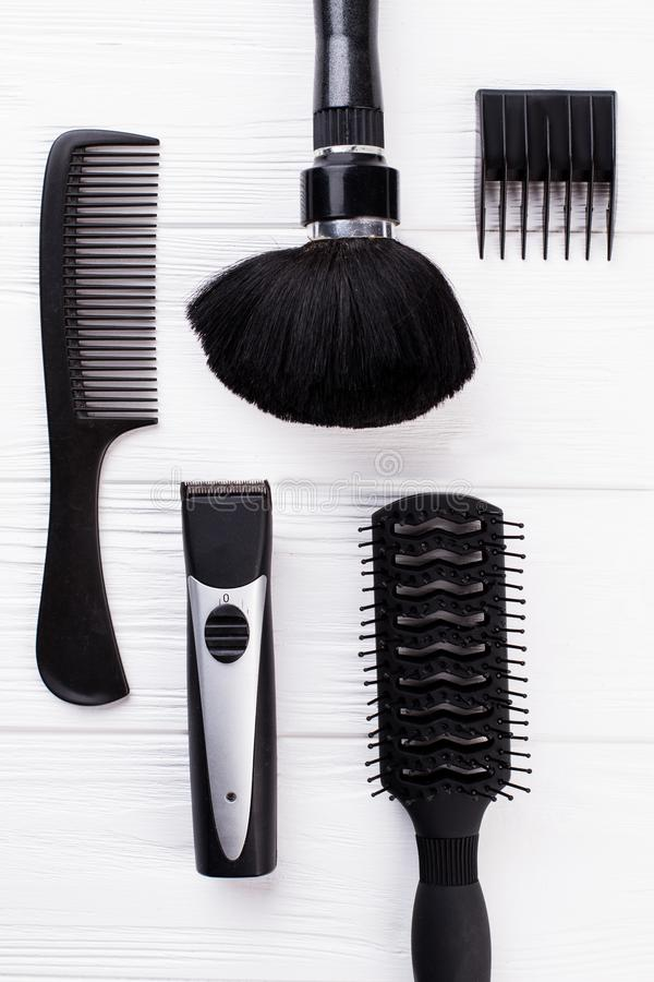 Professional beautician hairdressing tools and accessories. royalty free stock image