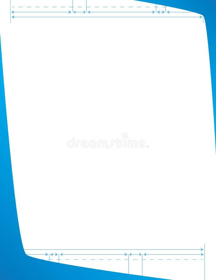 Professional Blueprint Letterhead Template stock photography