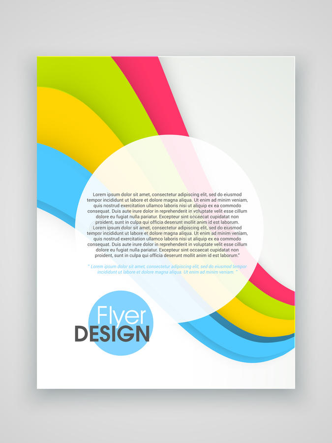 Professional Brochure Template Or Flyer Design Stock Illustration