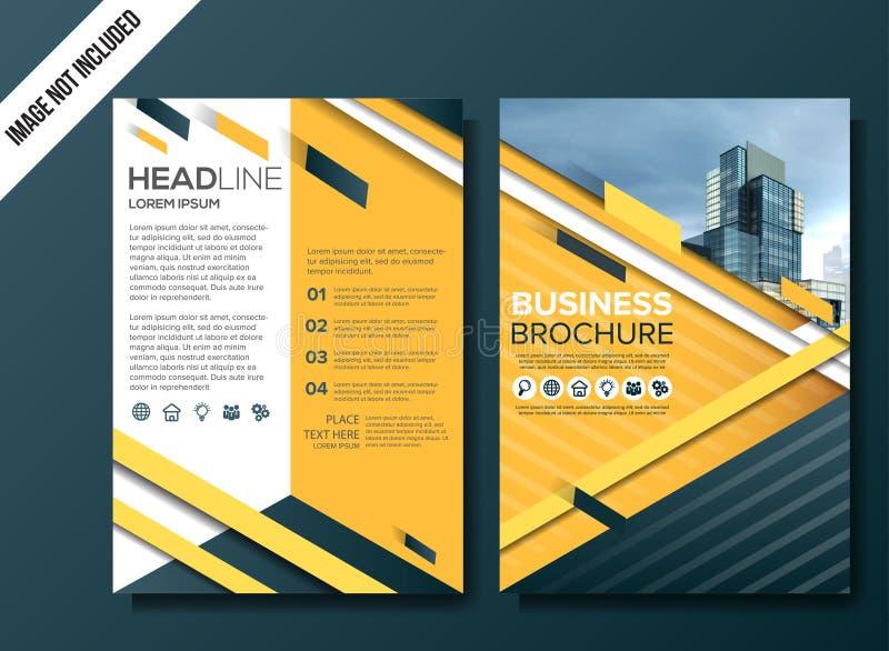 Modern business flyer background template vector illustration