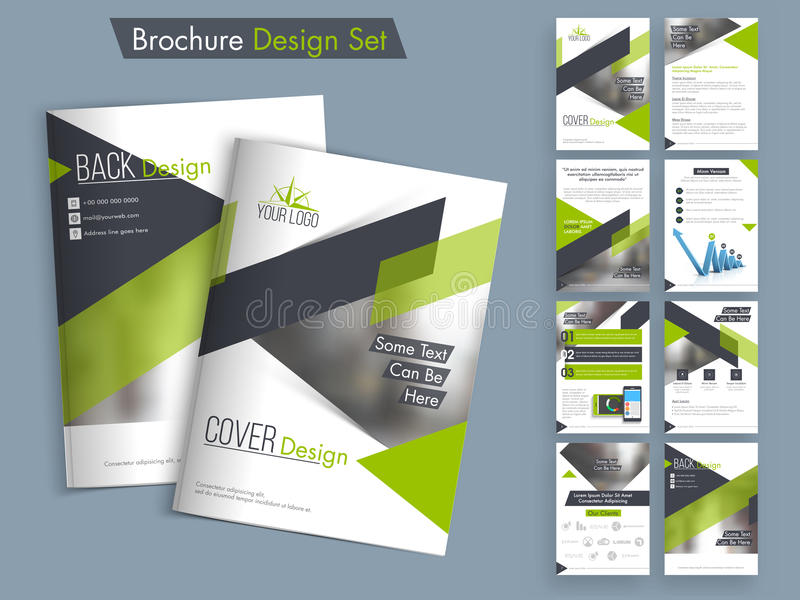 Professional business brochure, template or flyer set. royalty free illustration