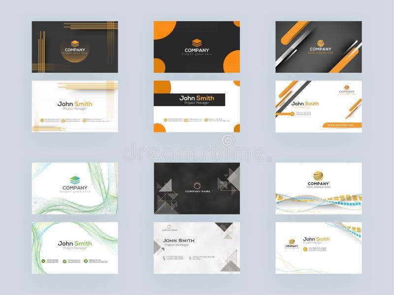 Professional Business Card, Template oder Visitenkarte im abstrakten Corporate Look lizenzfreie abbildung
