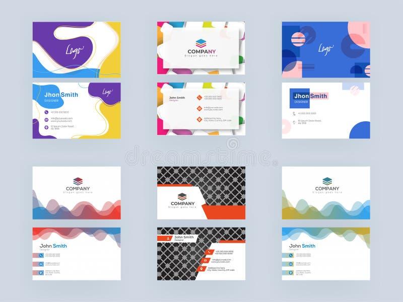 Professional Business Card, Template oder Visitenkarte Set in abstrakter Betrachtung stock abbildung
