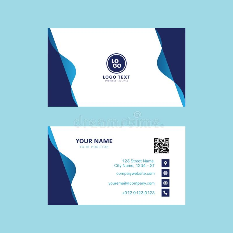 Professional business card vector design, Invitation card template modern design stock illustration