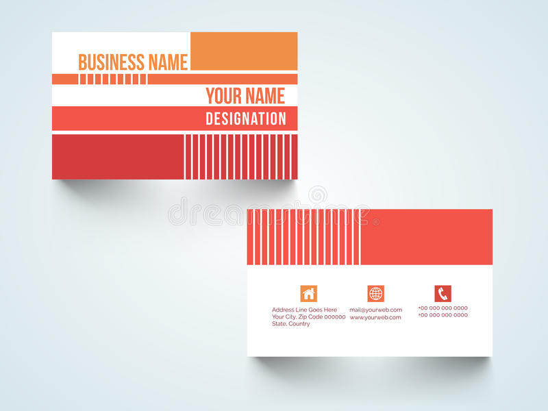 Professional Business Card Or Visiting Card Set. Stock ...