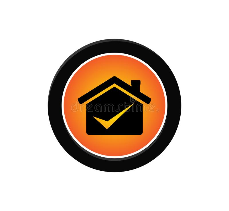 professional business deal house icon vector logo design royalty free illustration