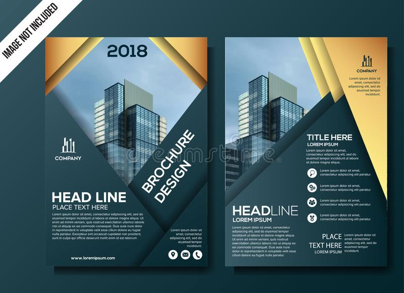 Professional Business flyer template vector illustration royalty free illustration