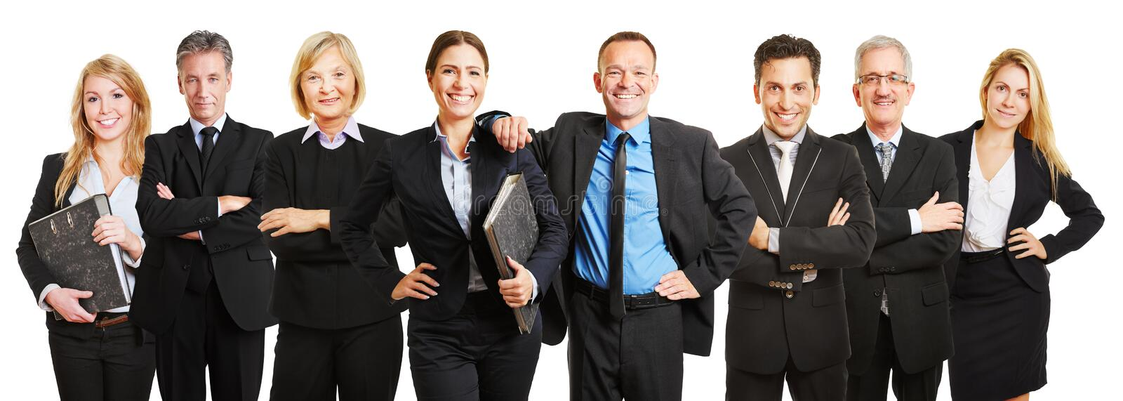 Professional business lawyer team royalty free stock photos