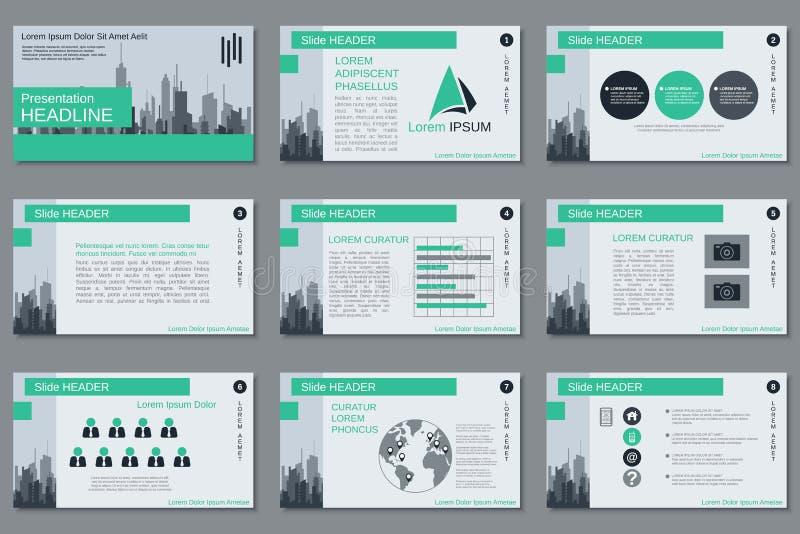 Professional business presentation, slide show vector template. Professional business presentation, slide show, infographics vector design template royalty free illustration