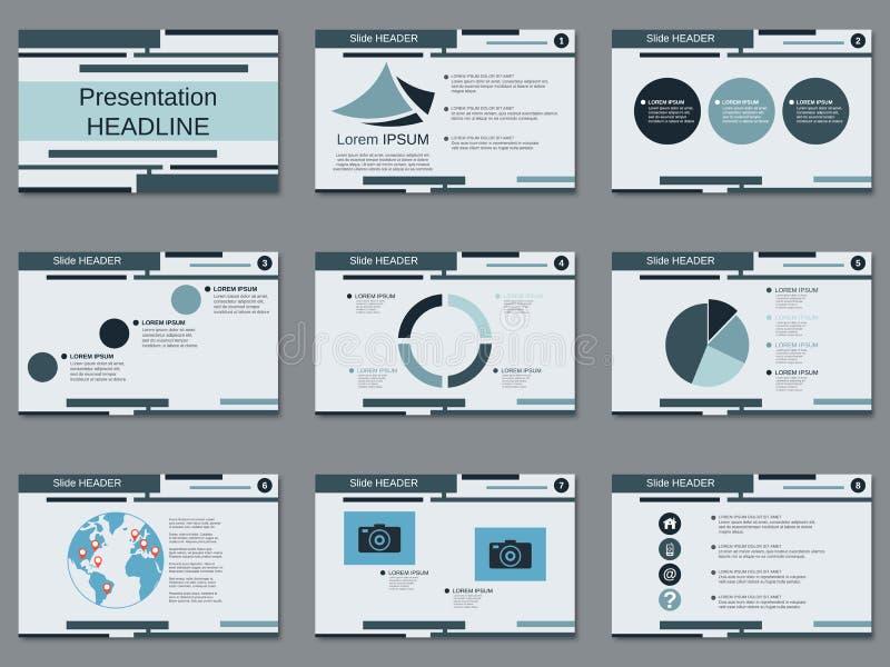 Professional business presentation, slide show vector template. Professional business presentation, slide show vector design template royalty free illustration