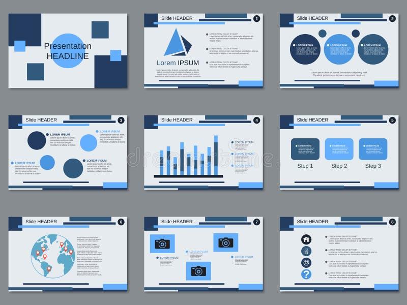 Professional business presentation, slide show vector template. Professional business presentation, slide show vector design template stock illustration