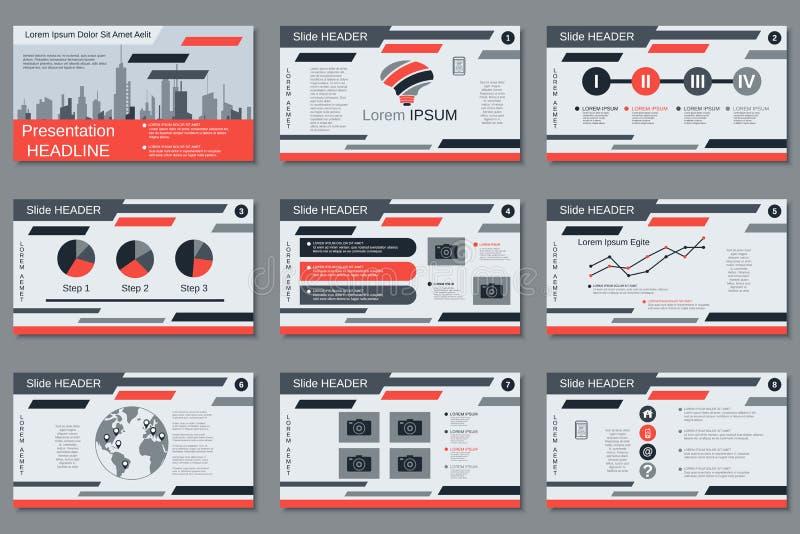 Professional business presentation, slide show vector template. Professional business presentation, slide show, infographics vector design template vector illustration
