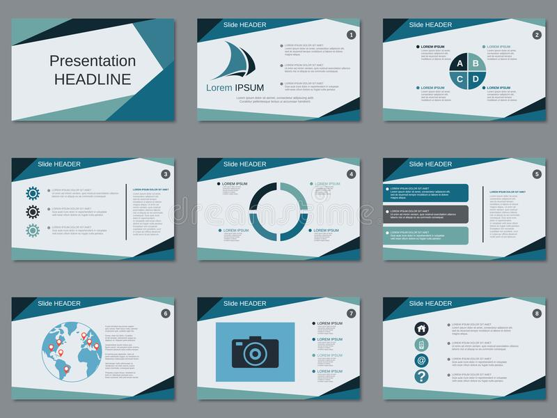 Professional business presentation, slide show vector template. Professional business presentation, slide show vector design template vector illustration