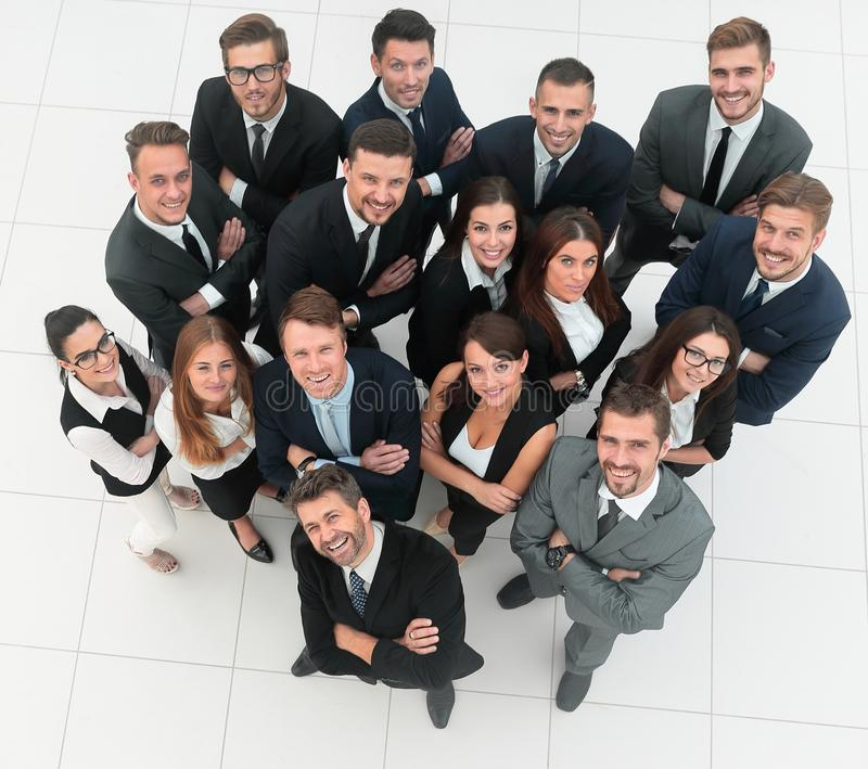 Professional business team. on white background stock photography
