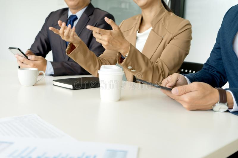 Professional businesswoman leader of the group work. Concept lady can run good business royalty free stock photos