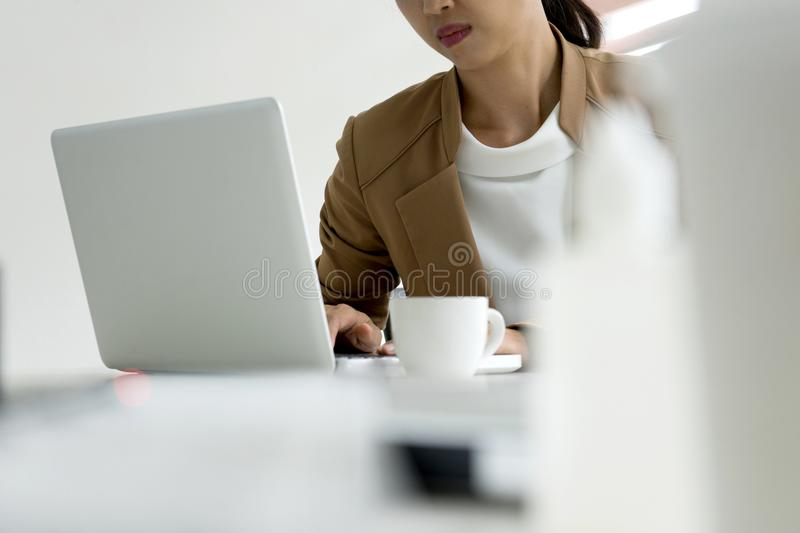 Professional businesswoman leader of the group work concept lady. Can run good business royalty free stock photo