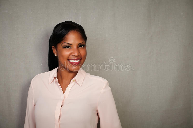 Professional businesswoman looking at the camera royalty free stock photos