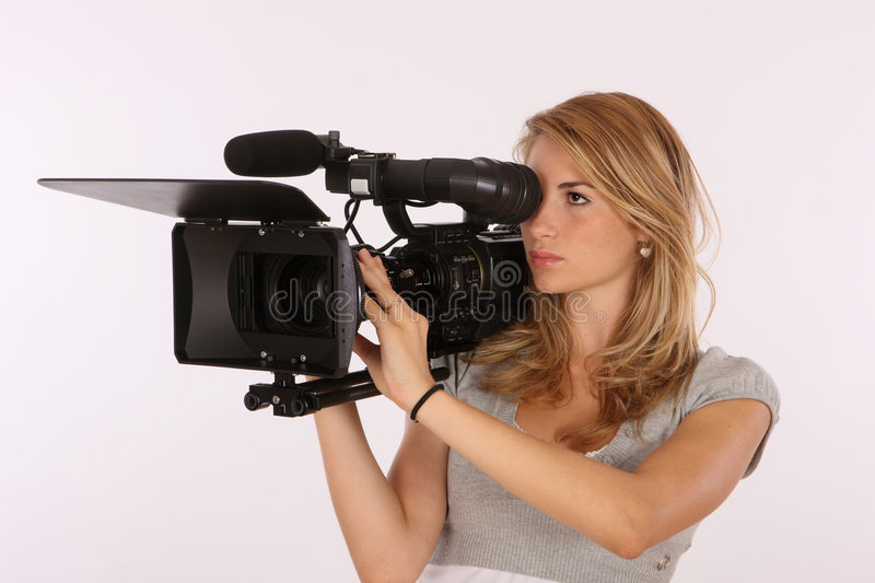 Download Professional Camera Girl stock image. Image of learning - 6030501