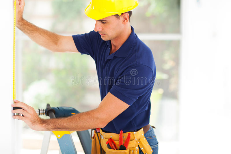 Installing security camera royalty free stock images