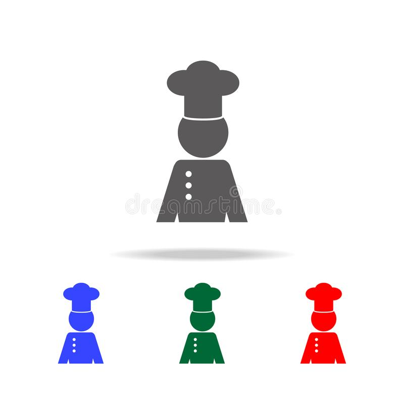 Professional chef avatar character icon. Elements of cooking multi colored icons. Premium quality graphic design icon. Simple icon. For websites, web design stock illustration