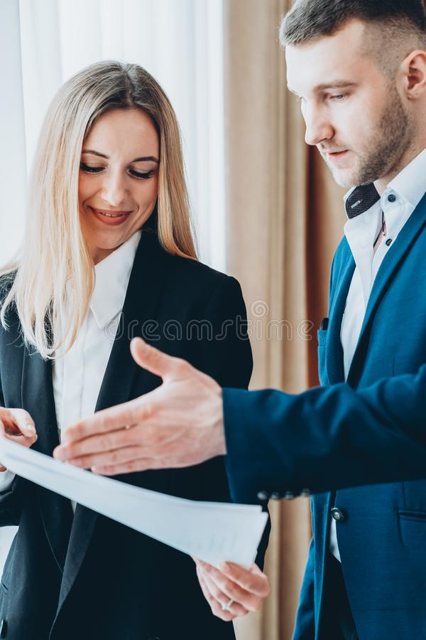 Professional communication report chief executive royalty free stock image