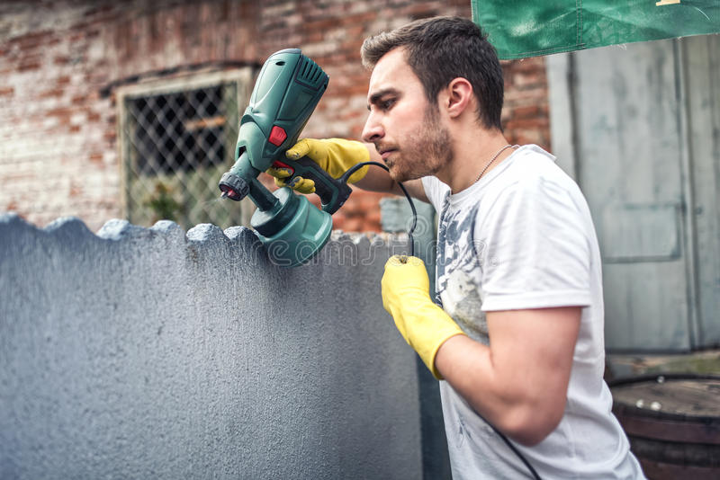 Professional Construction Worker Painting Walls At House Renovation Stock Photo Image 54862516