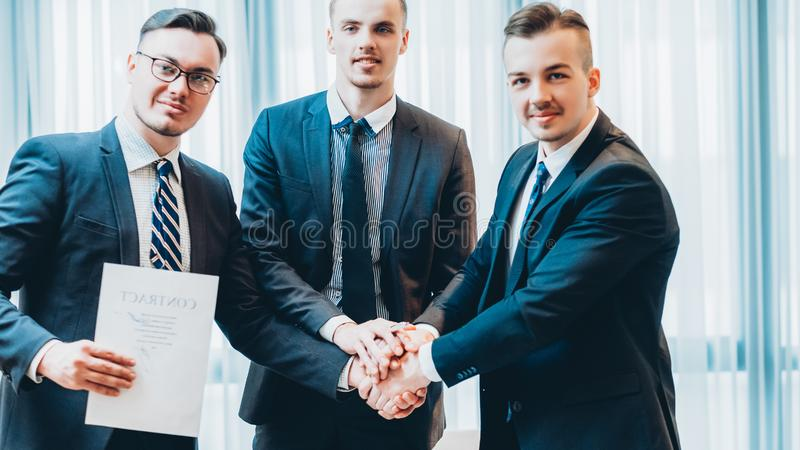 Professional cooperation business partners deal royalty free stock photos