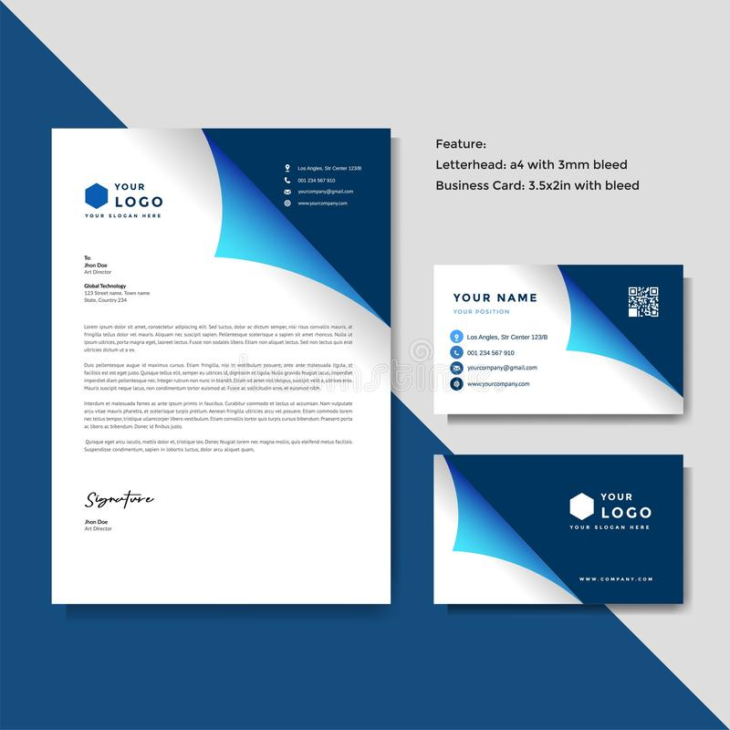 Professional Creative Letterhead And Business Card Vector