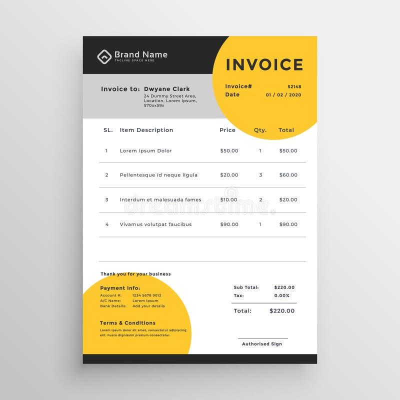 Professional Creative Vector Invoice Template Design Stock Vector ...