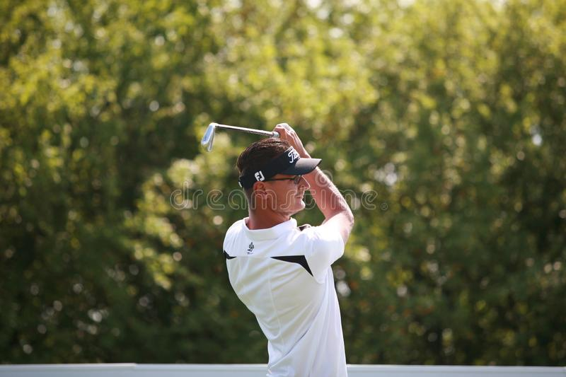 The professional czech golfer player OndÅ™ej Leiser. royalty free stock images