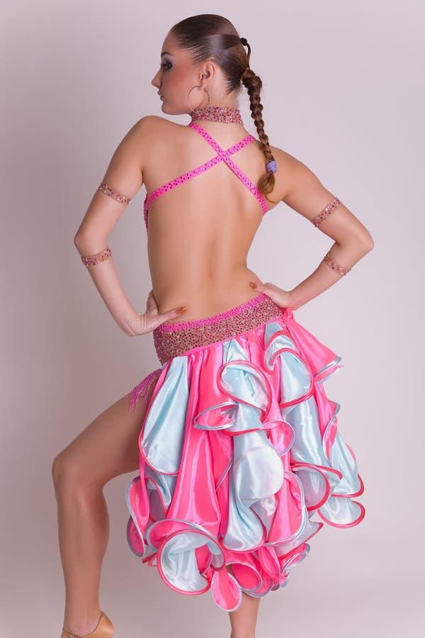 Professional dancer girl in dress