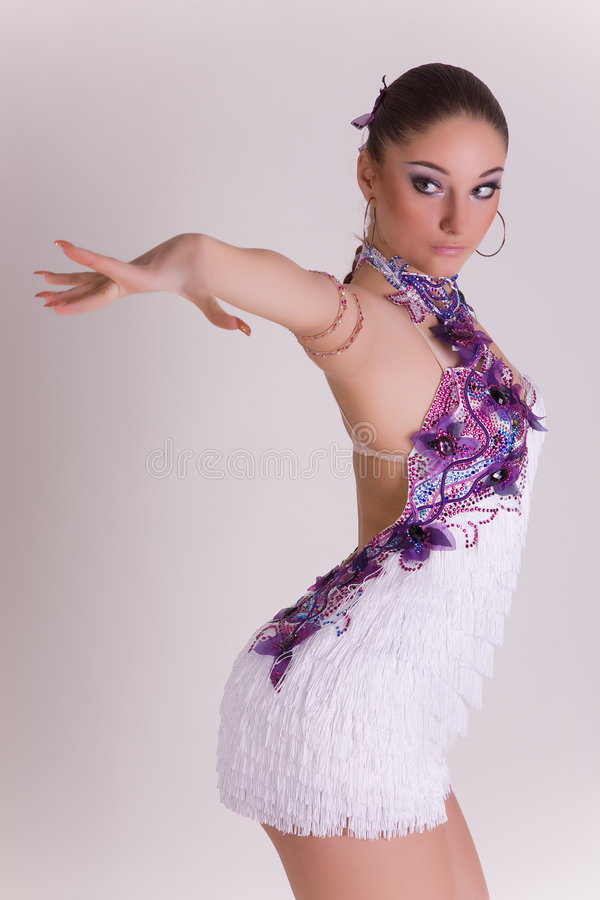 Download Professional Dancer Girl In Motion Stock Photo - Image of attractive, brunette: 8258404