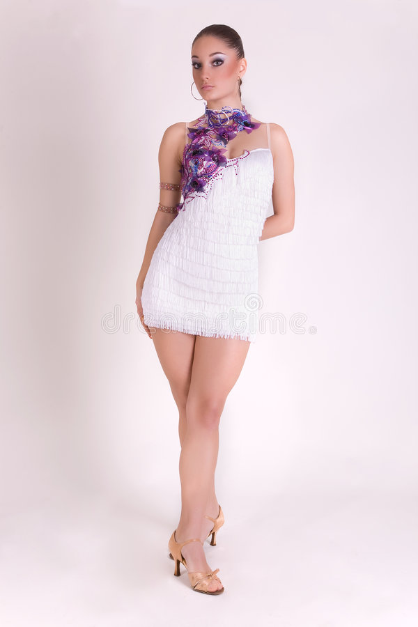 Download Professional Dancer Girl In White Outfit Stock Photo - Image: 7946032