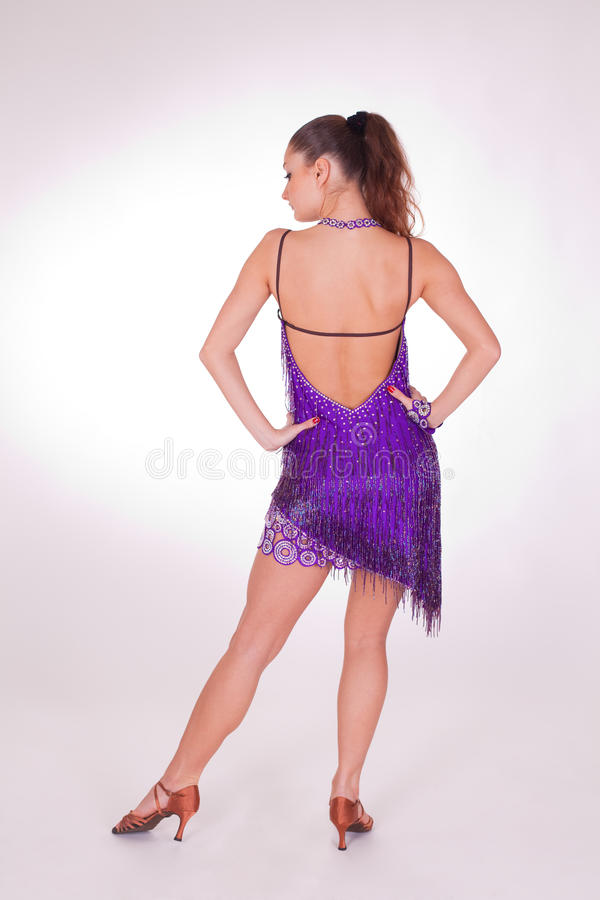 Professional danser. Isolated in studio shot stock photography