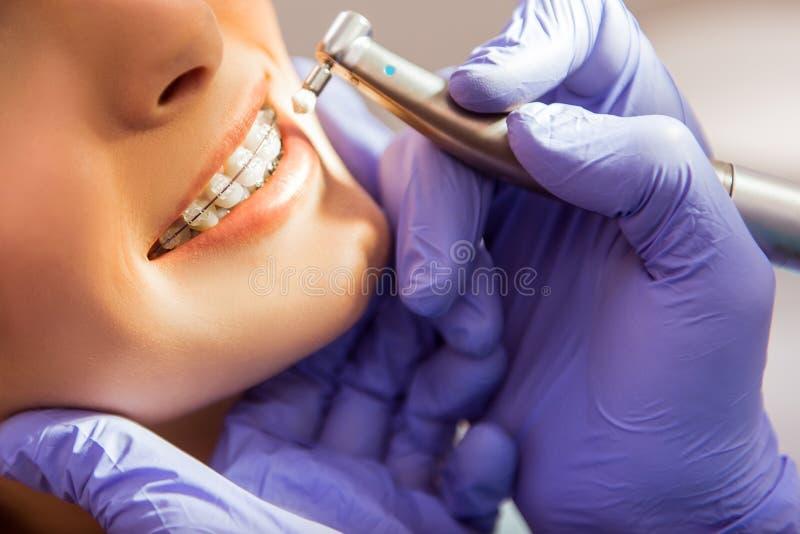 Professional dentist office stock image