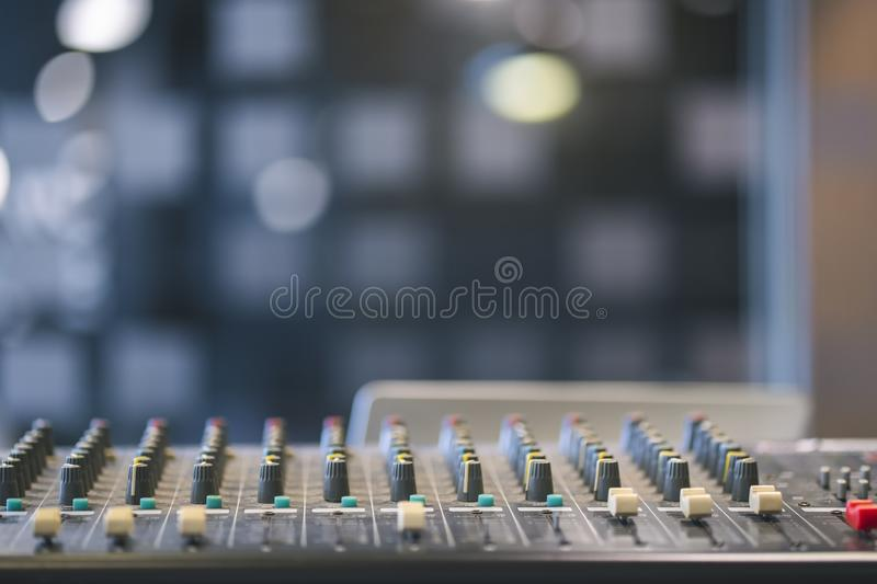 Professional digital audio channel mixer royalty free stock image